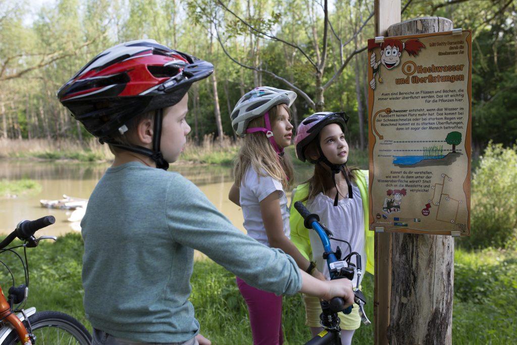 PR Bild Weinviertel Donauraum Kinderradroute Stockerauer Au © Weinviertel Tourismus Wurnig