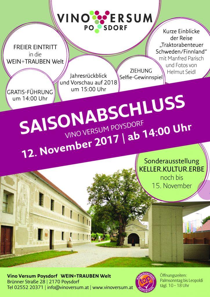 Vino Versum Poysdorf Plakat Saisonabschluss 2017