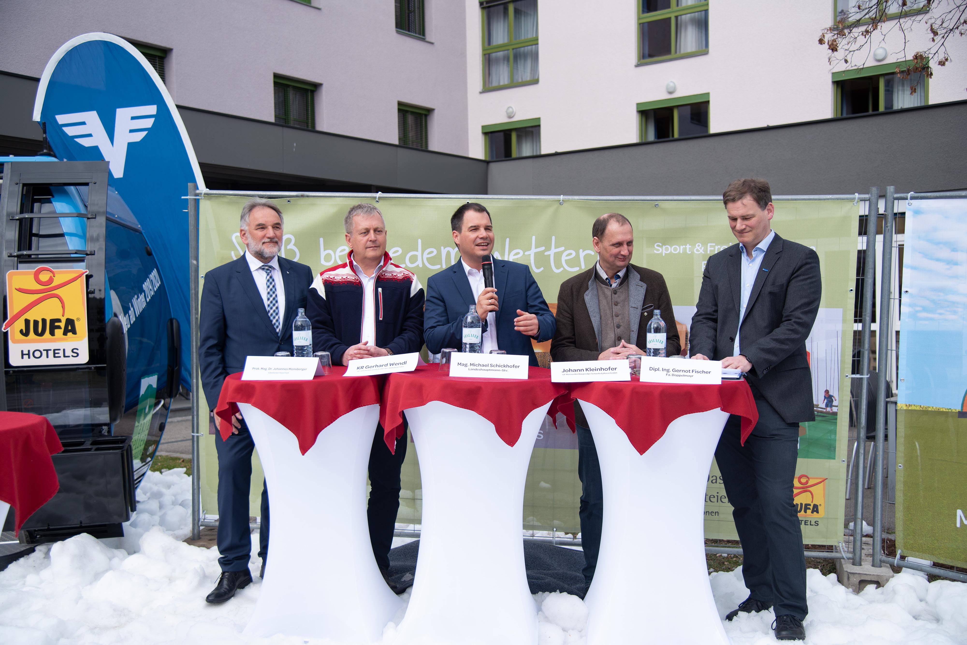 PK Bürgeralpe v.l.n.r.: Johannes Monsberger, Gerhard Wendl, Michael Schickhofer, Johann Kleinhofer, Gernot Fischer