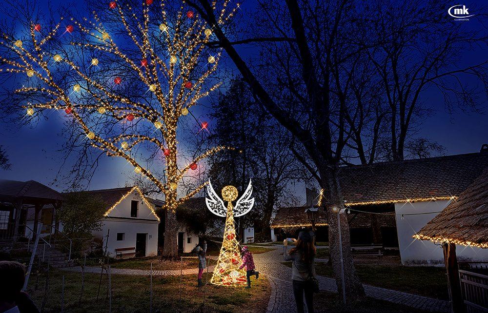 Pressebild Vino Versum Poysdorf Tourismus 1. Poysdorfer Christkindlmarkt 1 © MK Illuminations