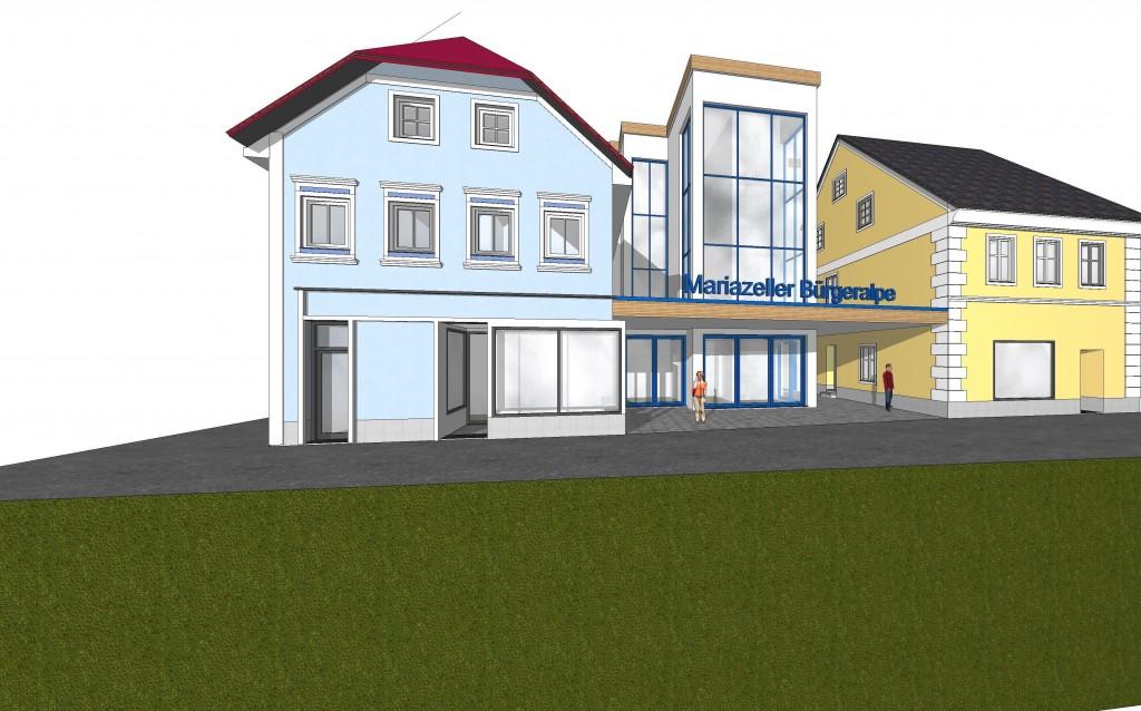 PR Bild Mariazeller Bürgeralpe Entwurf Talstation Bürgeralpe neu