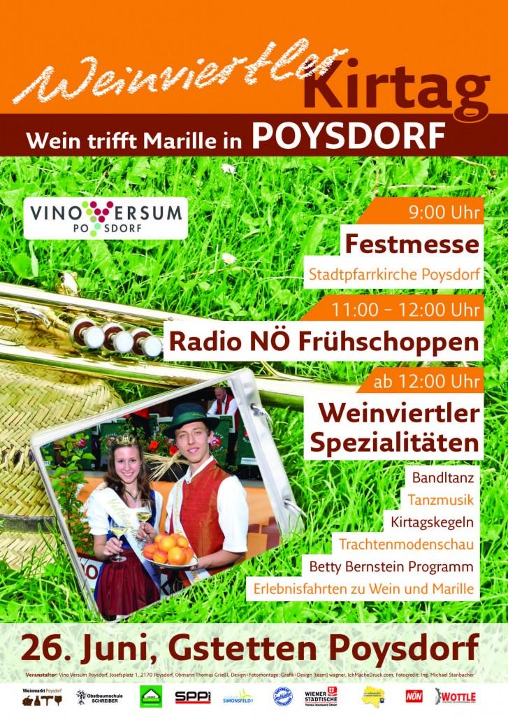 Vino Versum Poysdorf Programm Weinviertler Kirtag 2016