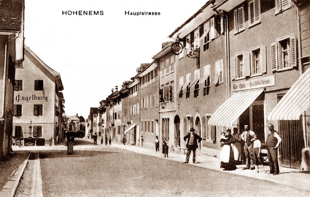 PR Bild BDA Marktstraße Hohenems - Historisch © Stadtarchiv Hohenems