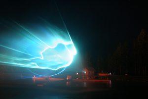 PR Bild Laser-Wassershow bei Mariazeller Bergwelle