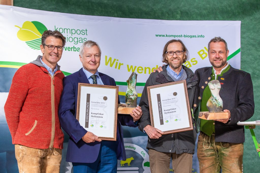 Kompost und Biogas Verband Österreich Pressefoto v. l. n. r.: Hubert Seiringer, Franz Mochty, Florian Amlinger, Robert Tulnik © Viennamotion KG/Sophia Auly